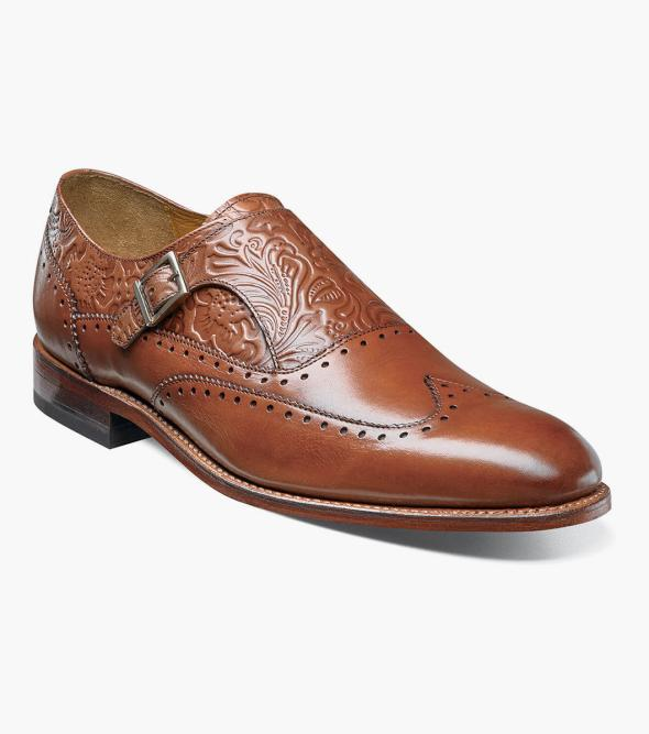 Madison II Wingtip Floral Monk Strap  153.90