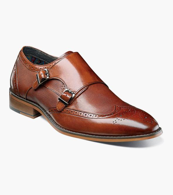 Lavine Wingtip Double Monk Strap