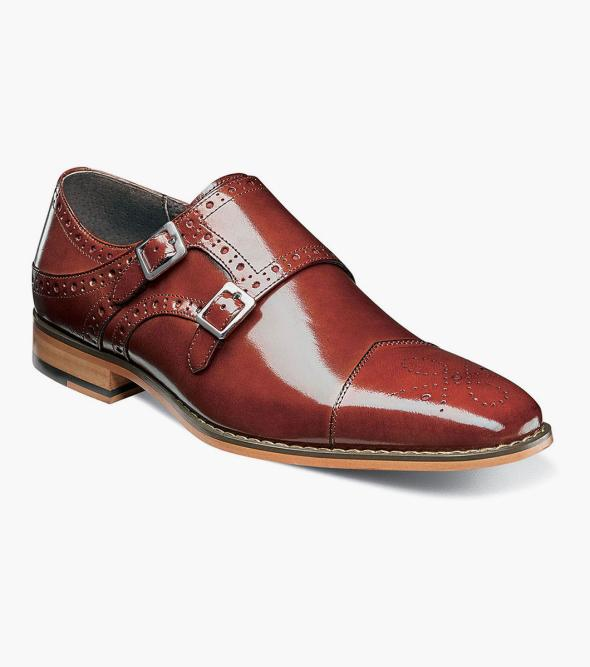 Tayton Cap Toe Double Monk