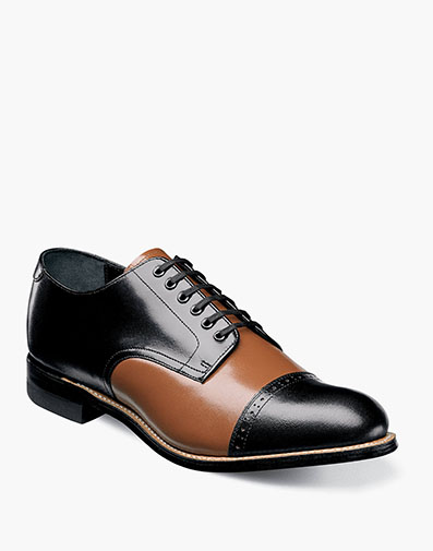 Madison Cap Toe Oxford in Black Multi for $175.00
