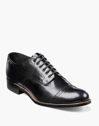 Madison Cap Toe Oxford in Black for $175.00