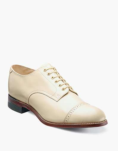 Madison Cap Toe Oxford in Ivory for $145.90