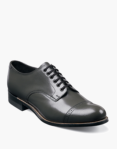 Madison Cap Toe Oxford in Steel Gray for $175.00