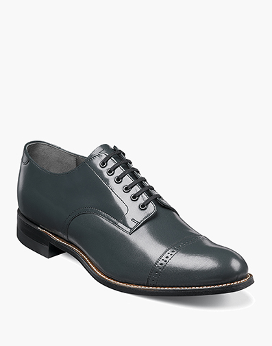 Madison Cap Toe Oxford in Navy for $175.00