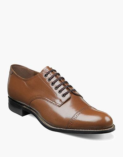 Madison Cap Toe Oxford in Oak for $175.00