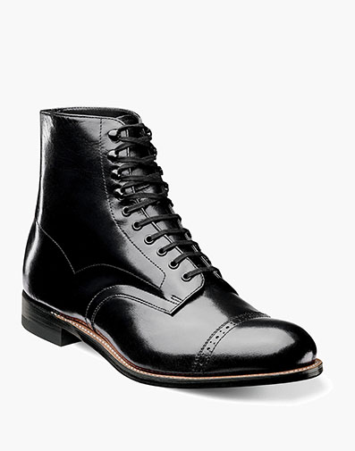 Madison Cap Toe Boot in Black for $200.00