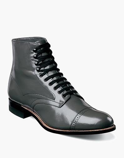 Madison Cap Toe Boot in Steel Gray for $195.00