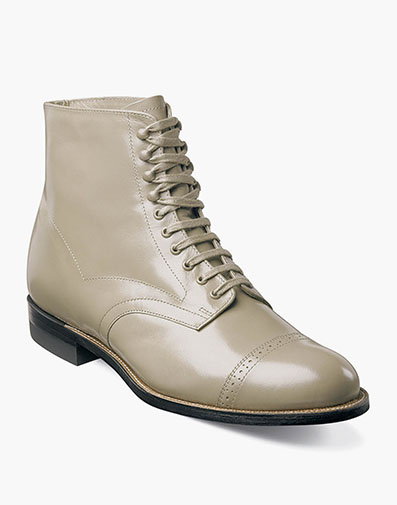 Madison Cap Toe Boot in Taupe for $195.00