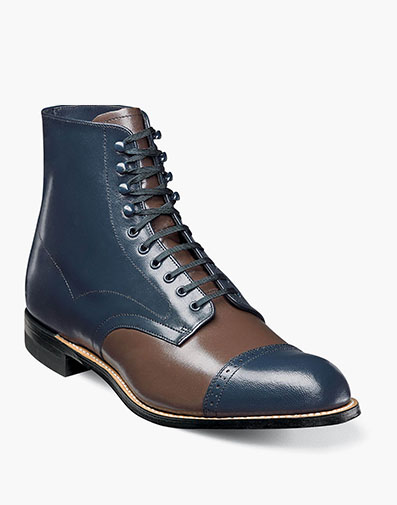 Madison Cap Toe Boot in Navy Multi for $195.00