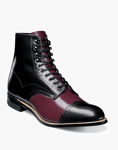 Madison Cap Toe Boot in Burgundy Multi for $195.00