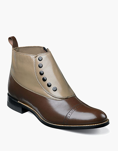 Madison Spectator Spat Cap Toe Boot in Brown Multi for $195.00