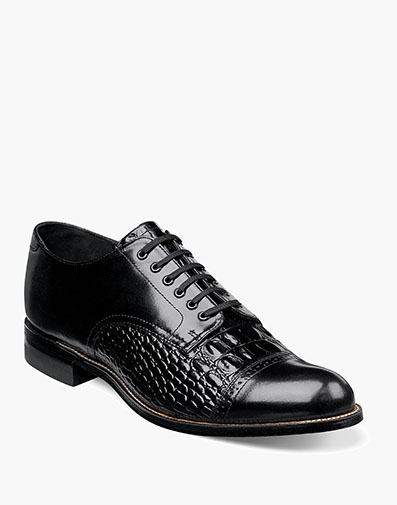 Madison Hornback Cap Toe Oxford in Black for $180.00
