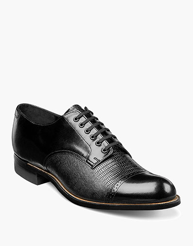 Madison Lizard Cap Toe Oxford in Black for $190.00