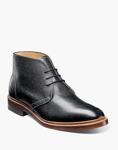 Madison II Plain Toe Chukka Boot in Black for $220.00
