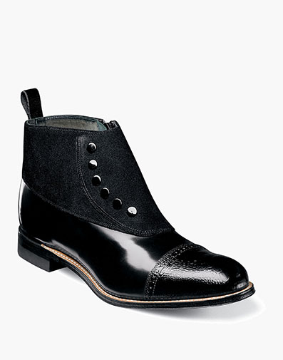 Madison Cap Toe Side Zip in Black for $200.00