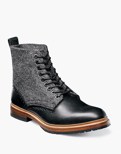 M2 Wool Felt Plain Toe Boot in Black for $270.00