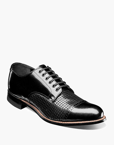 Madison Cap Toe Oxford in Black for $190.00