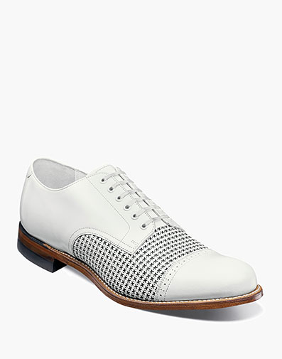 Madison Cap Toe Oxford in White for $190.00
