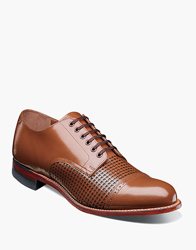Madison Cap Toe Oxford in Oak for $190.00
