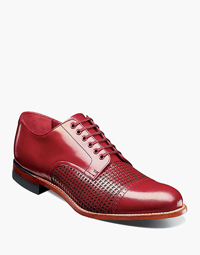Madison Cap Toe Oxford in Red for $190.00