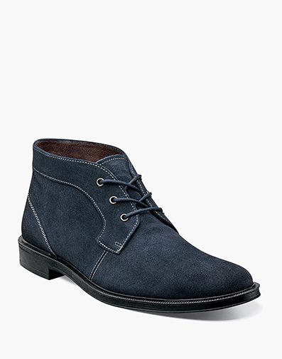 Dabney Plain Toe Chukka in Navy for $145.00