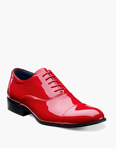 Gala Cap Toe Oxford in Red for $95.00
