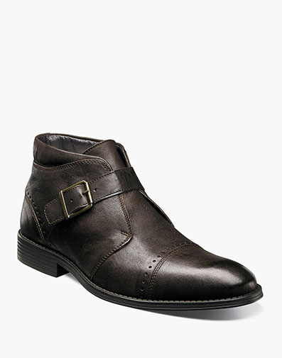 Rawley Cap Toe Monk Strap Boot in Brown for $145.00
