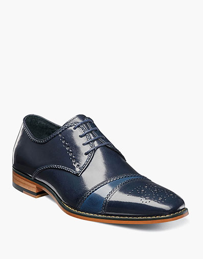 Talbot Cap Toe Lace Up in Navy Multi for $175.00