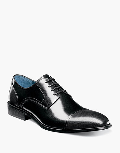 Jemison Cap Toe Oxford in Black for $145.00