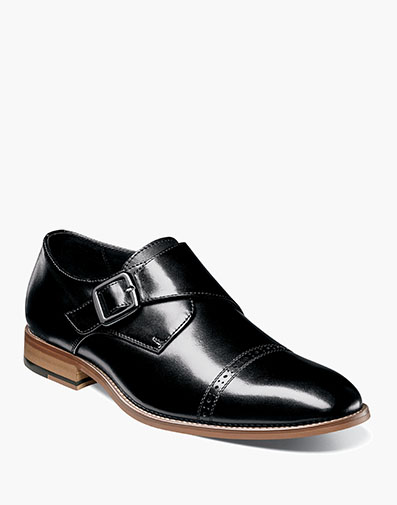 Desmond Cap Toe Monk Strap in Black for $140.00