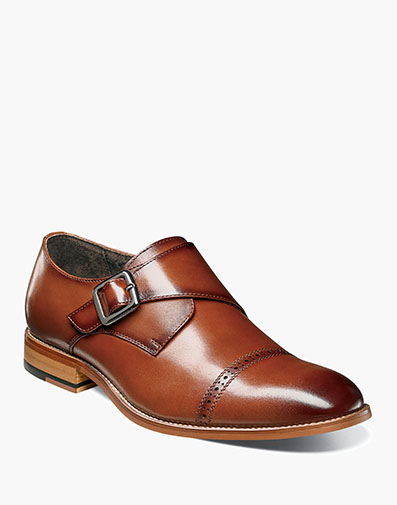Desmond Cap Toe Monk Strap in Cognac for $140.00