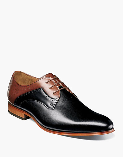 Savion Plain Toe Oxford in Black/Cognac for $104.90