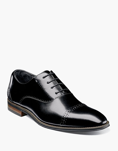Barris Cap Toe Oxford in Black for $135.00