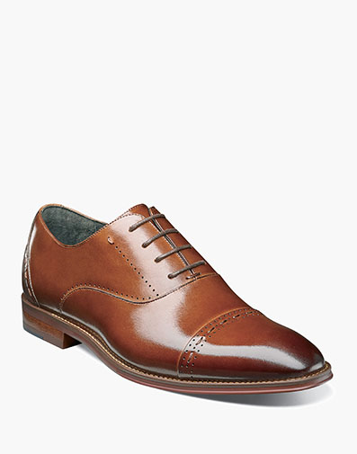 Barris Cap Toe Oxford in Cognac for $135.00