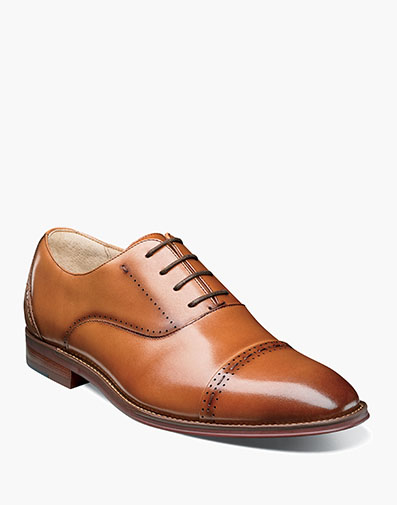Barris Cap Toe Oxford in Tan for $135.00