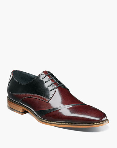 Talmadge Folded Vamp Oxford in Burgundy Multi for $175.00