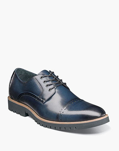 Barcliff Cap Toe Oxford in Indigo for $140.00