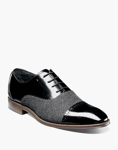 Barrington Cap Toe Oxford in Black for $135.00