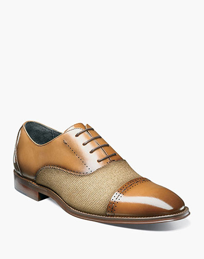 Barrington Cap Toe Oxford in Tan for $135.00