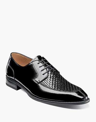 Winthrop Moc Toe Woven Oxford in Black for $175.00