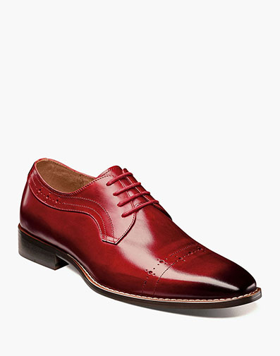 Shallon Cap Toe Oxford in Red for $150.00