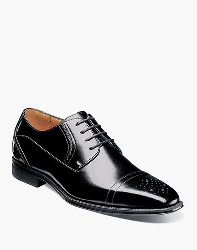 Powell Cap Toe Oxford in Black for $135.00