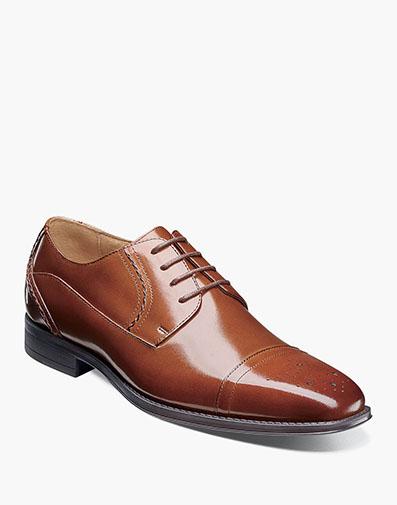 Powell Cap Toe Oxford in Cognac for $135.00