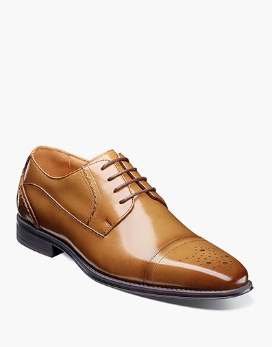 Powell Cap Toe Oxford in Tan for $135.00