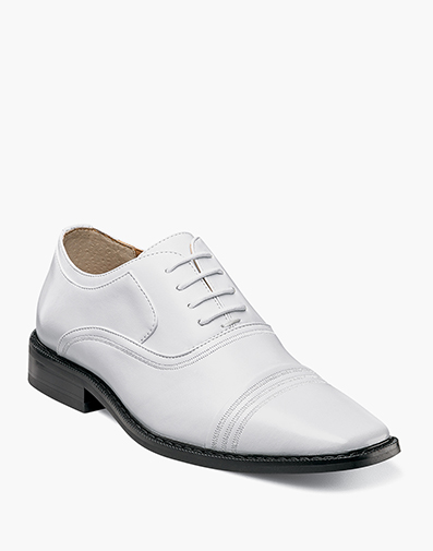 Boys Bingham Cap Toe Oxford in White for $70.00