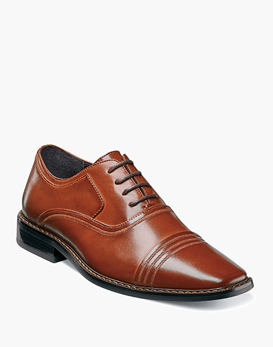 Boys Bingham Cap Toe Oxford in Cognac for $70.00