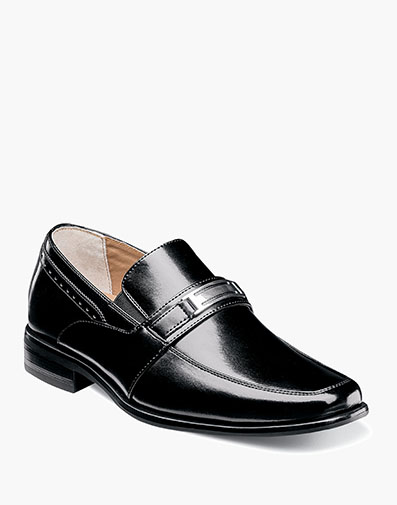 Boys Shaw Moc Toe Bit Slip On in Black for $70.00