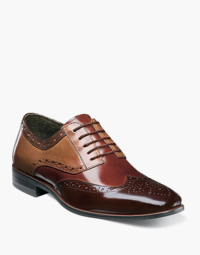 Boys Tinsley Wingtip Oxford in Brown Multi for $70.00