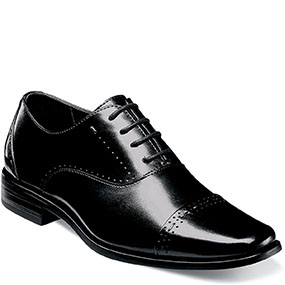 Boys Barris Cap Toe Oxford in Black for $70.00