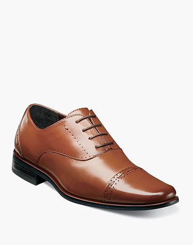 Boys Barris Cap Toe Oxford in Cognac for $70.00